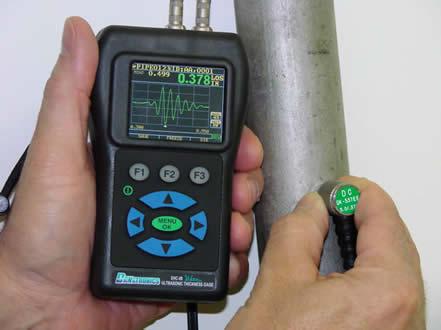 Danatronics EHC 09CW falvastagságmérő színes és A kép kijelzés