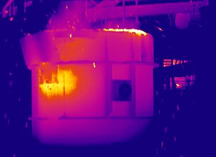 Öntödei optimalizálások hőkamerával, acél öntésnél