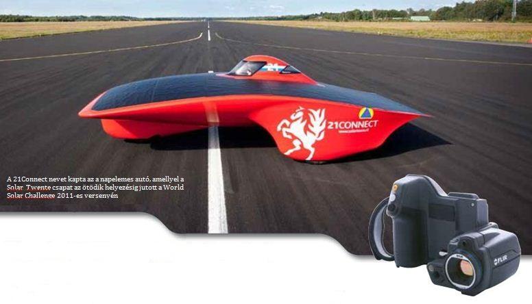 Termográfia – Hőkamera használata napelemes autók fejlesztésében