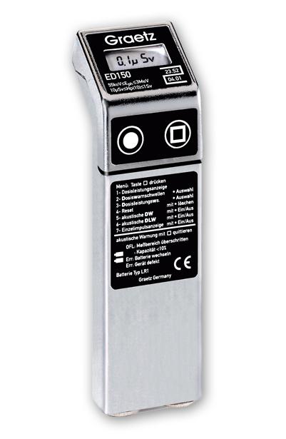 Graetz ED 150 dózismérő és dózisteljesítmény jelző készülék