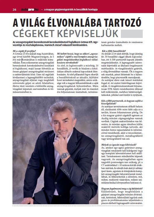 Autopro Magazin – Interjú Harnisch Józseffel