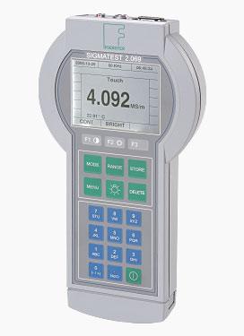 Sigmatest 2.069 – Elektromos vezetőképesség-mérő műszer