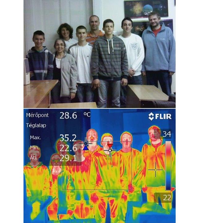 Termográfia a gyakorlatban – előadás középiskolás diákoknak