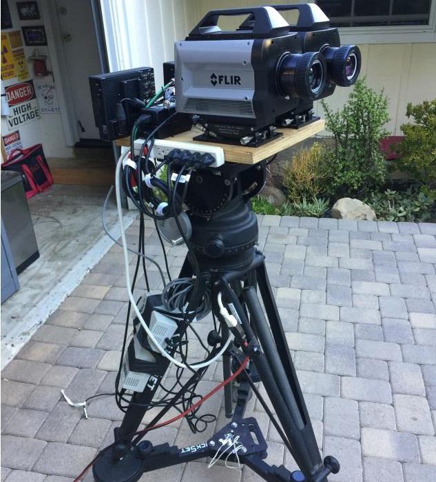 FLIR X6900 kétsávos hőkamera alkalmazási kísérlet