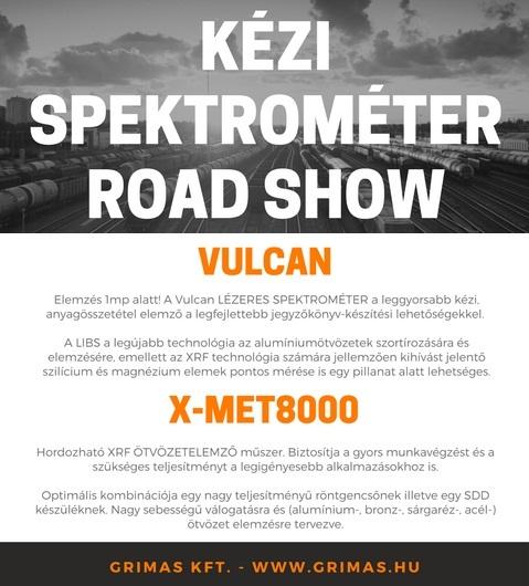 Kézi spektrométer Roadshow – 2017.09.19-21.