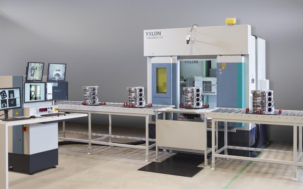 Az MU 2000-D ipari röntgenkabin gyártósorba is építhető gyártásközi ellenőrzéshez.