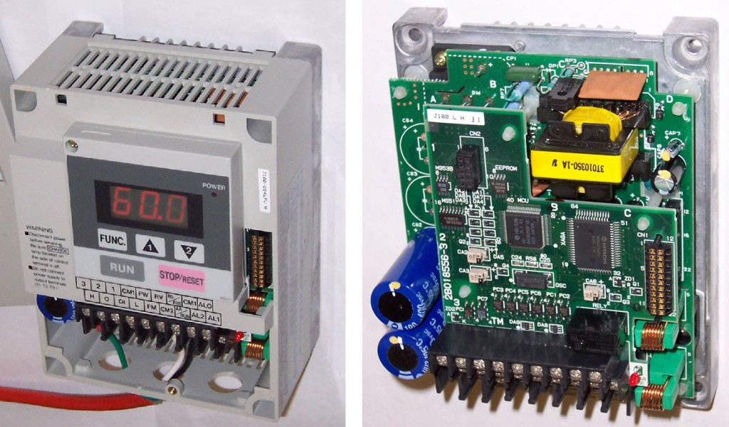 VFD (variable-frequency drive) kívülről és belülről
