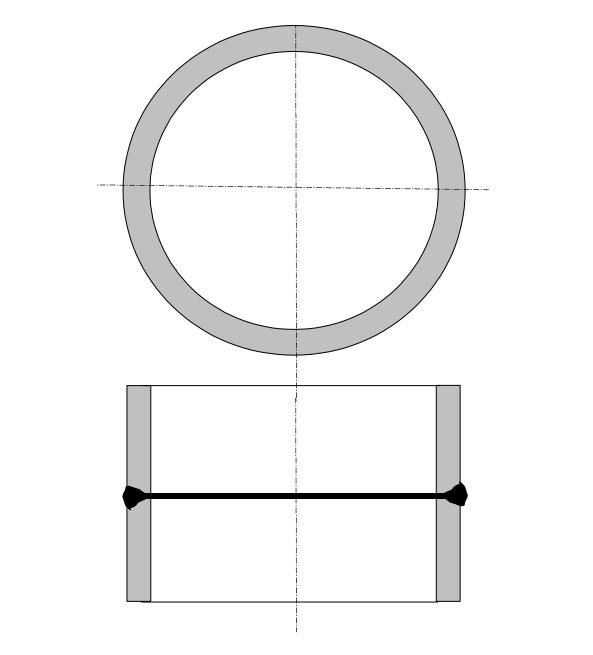 Vákuumkeret palástfelületi tompavarrat vizsgálatához