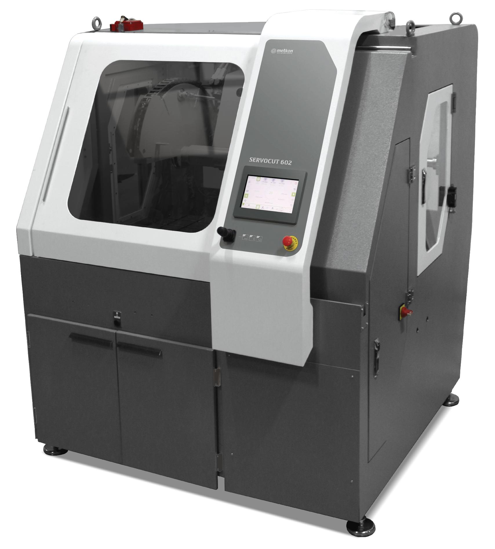 ServoCut 602 automata, abrazív vágógép rendkívül nagy mintákhoz