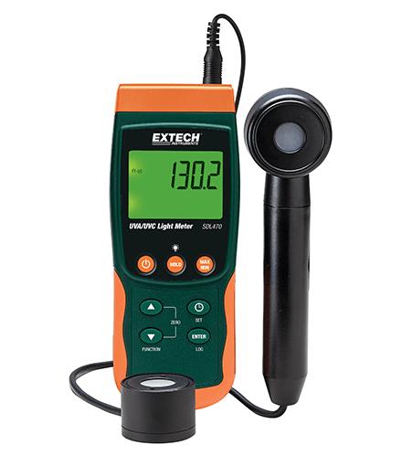 Extech SDL470: UVA/UVC fénymérő, adatgyűjtő